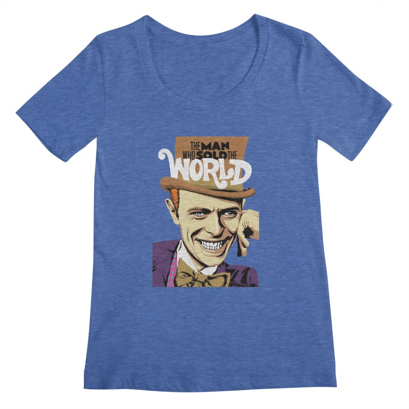The Man Who Sold The World  Women's Scoopneck by butcherbilly's Artist Shop