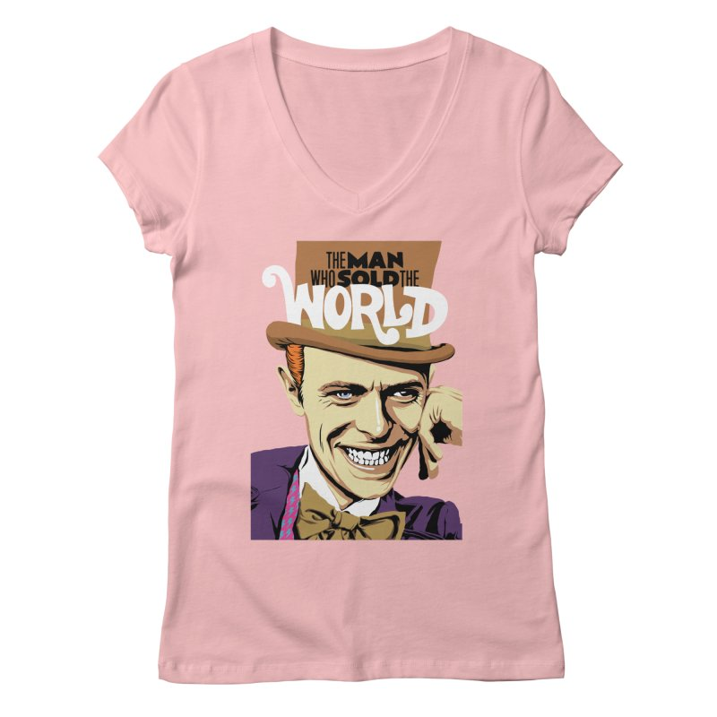 The Man Who Sold The World  Women's V-Neck by butcherbilly's Artist Shop