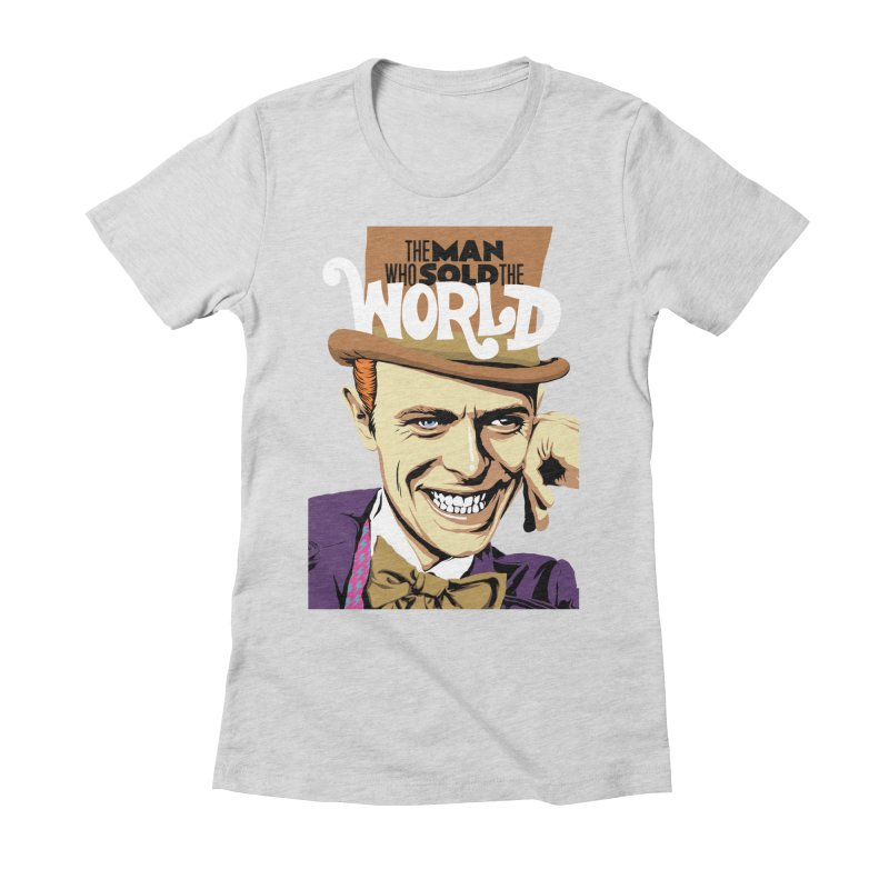 The Man Who Sold The World  Women's Fitted T-Shirt by butcherbilly's Artist Shop
