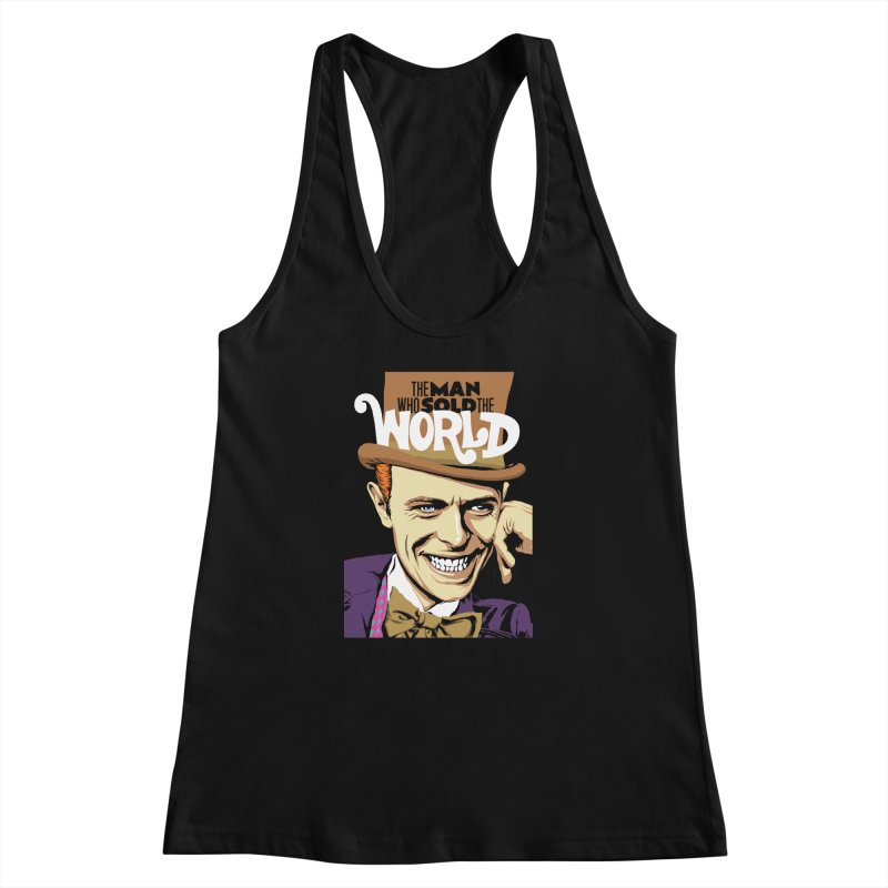 The Man Who Sold The World  Women's Racerback Tank by butcherbilly's Artist Shop