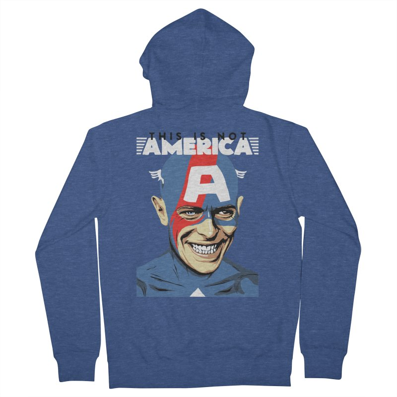 This Is Not America Women's Zip-Up Hoody by butcherbilly's Artist Shop