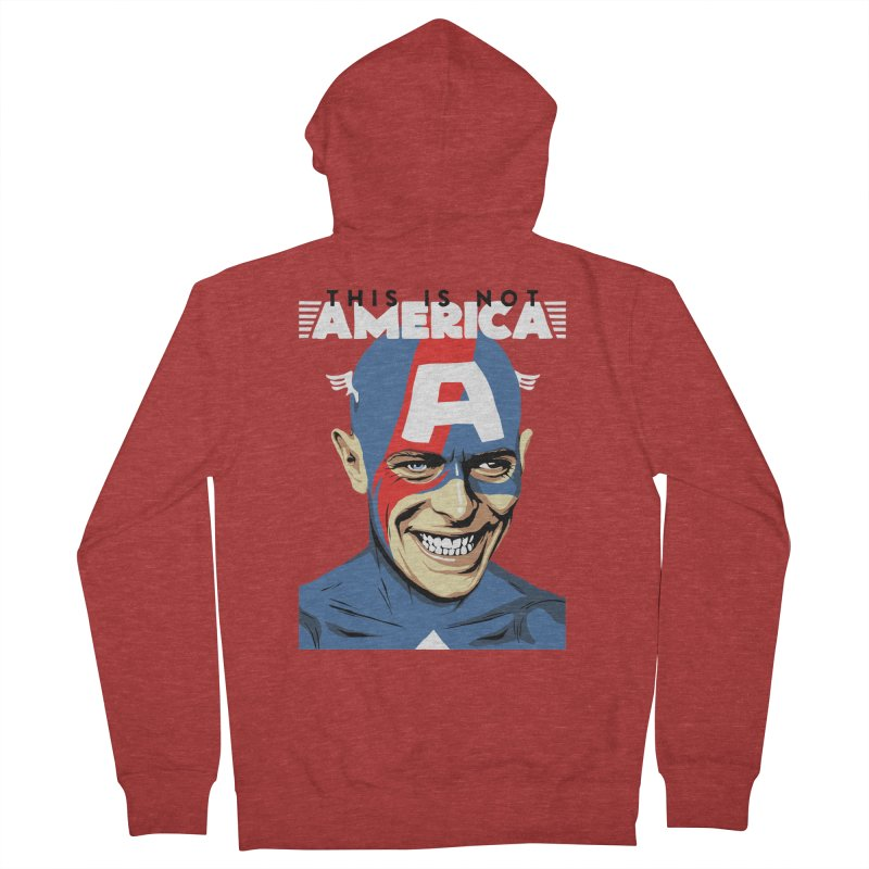 This Is Not America Men's Zip-Up Hoody by butcherbilly's Artist Shop