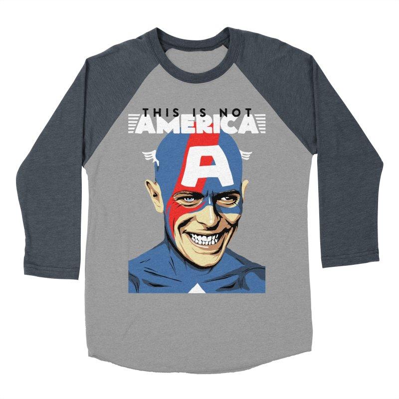 This Is Not America Women's Baseball Triblend T-Shirt by butcherbilly's Artist Shop