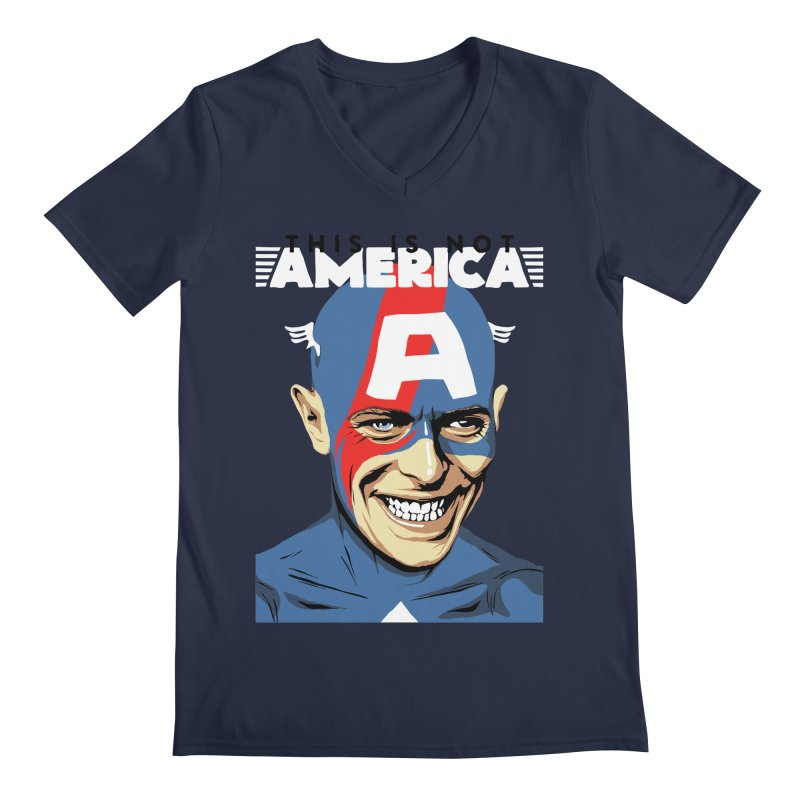 This Is Not America Men's V-Neck by butcherbilly's Artist Shop