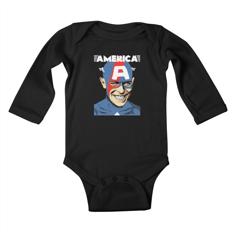 This Is Not America Kids Baby Longsleeve Bodysuit by butcherbilly's Artist Shop