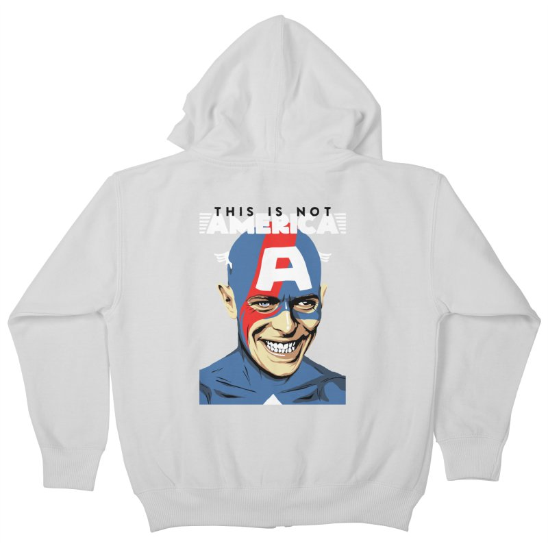 This Is Not America Kids Zip-Up Hoody by butcherbilly's Artist Shop