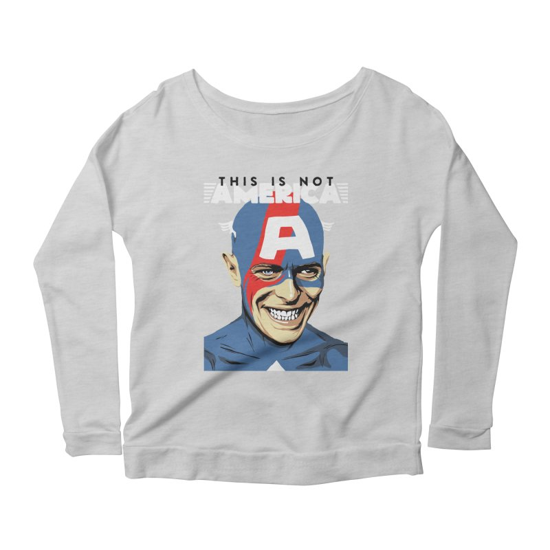 This Is Not America Women's Longsleeve Scoopneck  by butcherbilly's Artist Shop