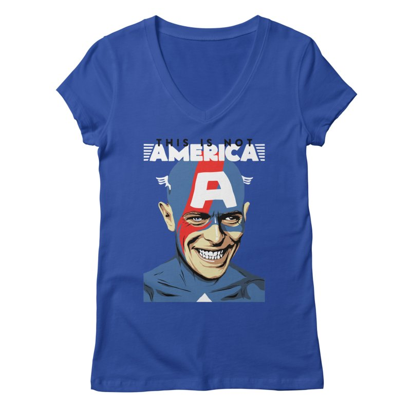 This Is Not America Women's V-Neck by butcherbilly's Artist Shop