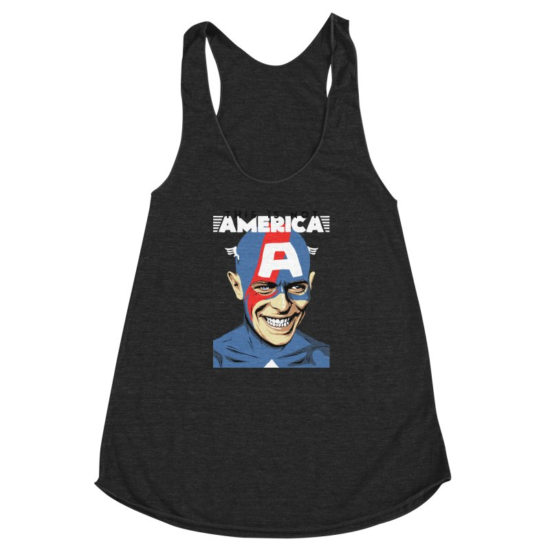 This Is Not America Women's Racerback Triblend Tank by butcherbilly's Artist Shop