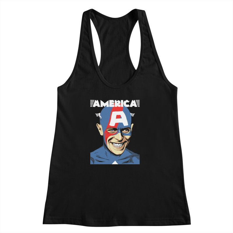 This Is Not America Women's Racerback Tank by butcherbilly's Artist Shop