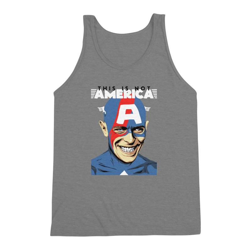 This Is Not America Men's Triblend Tank by butcherbilly's Artist Shop