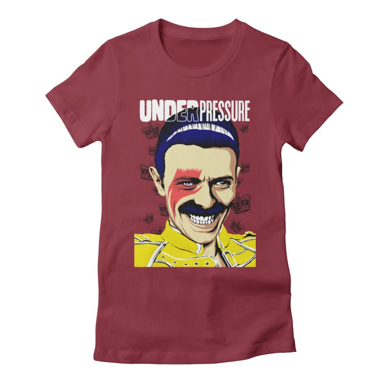 Under Pressure  Women's Fitted T-Shirt by butcherbilly's Artist Shop