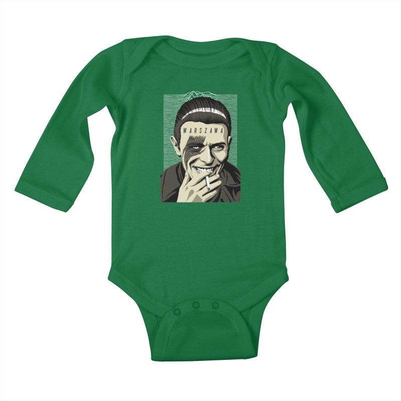 Warszawa Kids Baby Longsleeve Bodysuit by butcherbilly's Artist Shop