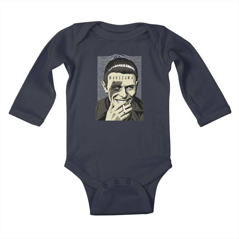 Warszawa Kids Baby Longsleeve Bodysuit by butcherbilly's Artist Shop