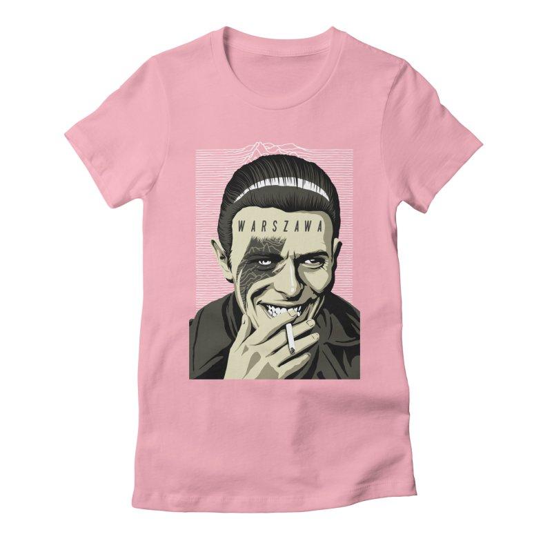 Warszawa Women's Fitted T-Shirt by butcherbilly's Artist Shop