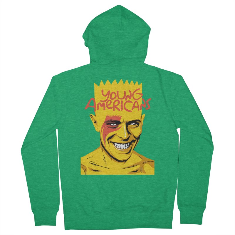 Young Americans  Women's Zip-Up Hoody by butcherbilly's Artist Shop