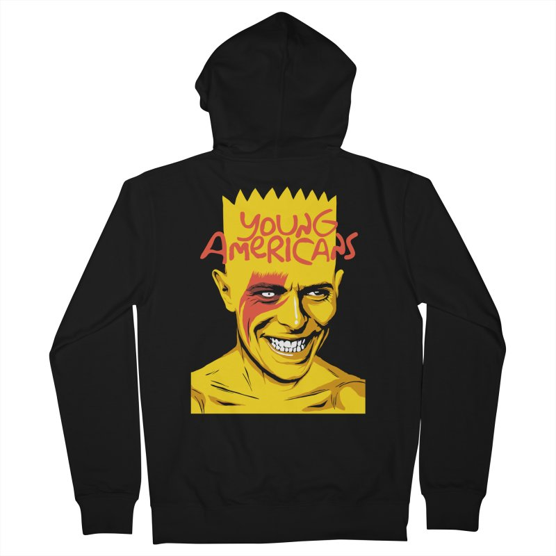 Young Americans  Men's Zip-Up Hoody by butcherbilly's Artist Shop
