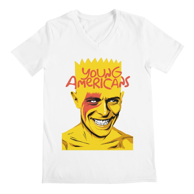 Young Americans  Men's V-Neck by butcherbilly's Artist Shop