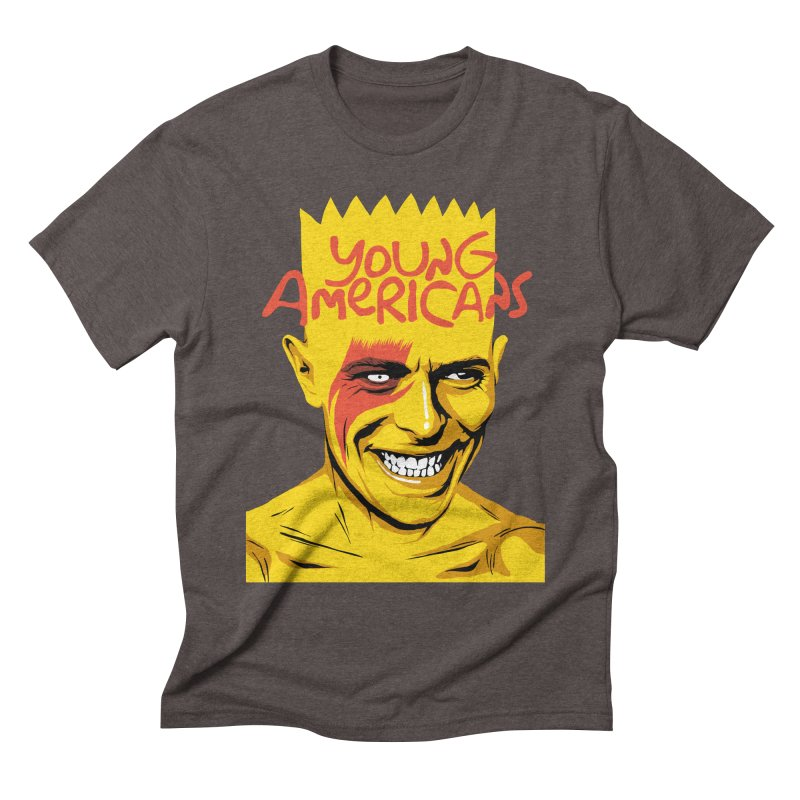 Young Americans  Men's Triblend T-shirt by butcherbilly's Artist Shop