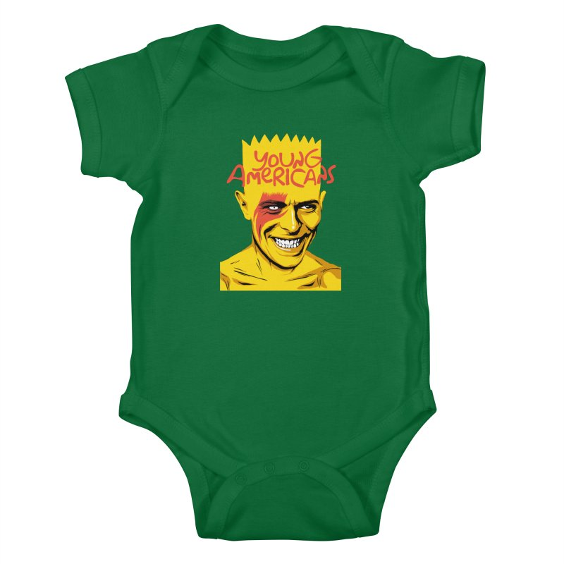 Young Americans  Kids Baby Bodysuit by butcherbilly's Artist Shop