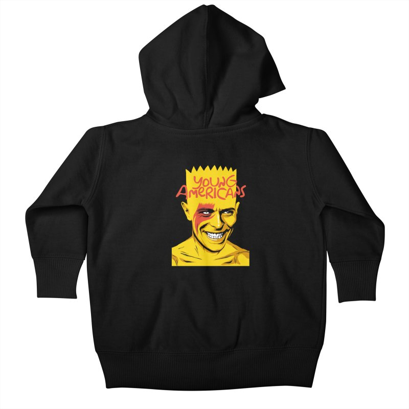 Young Americans  Kids Baby Zip-Up Hoody by butcherbilly's Artist Shop