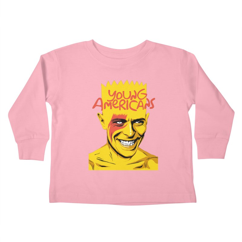 Young Americans  Kids Toddler Longsleeve T-Shirt by butcherbilly's Artist Shop