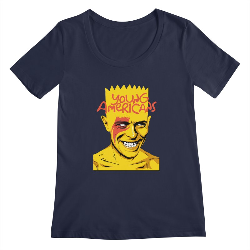 Young Americans  Women's Scoopneck by butcherbilly's Artist Shop