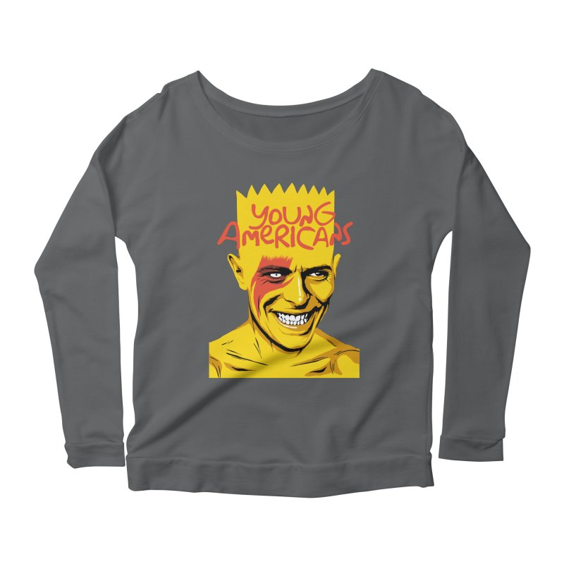Young Americans  Women's Longsleeve Scoopneck  by butcherbilly's Artist Shop
