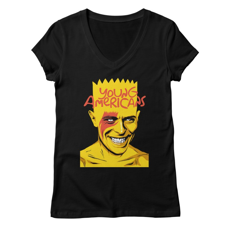 Young Americans  Women's V-Neck by butcherbilly's Artist Shop