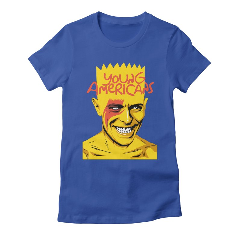 Young Americans  Women's Fitted T-Shirt by butcherbilly's Artist Shop