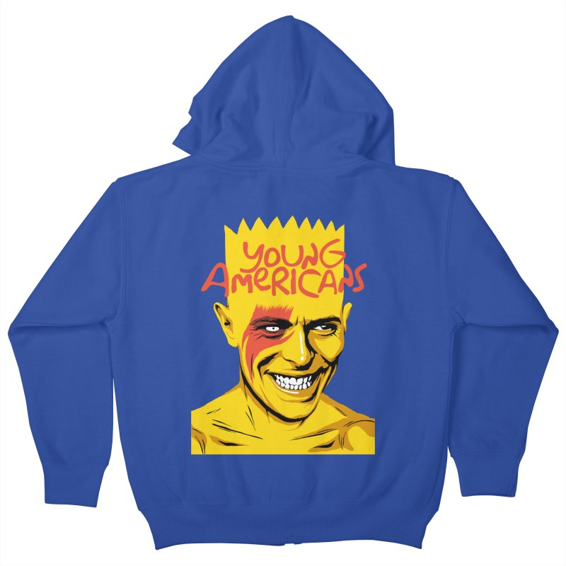 Young Americans  Kids Zip-Up Hoody by butcherbilly's Artist Shop