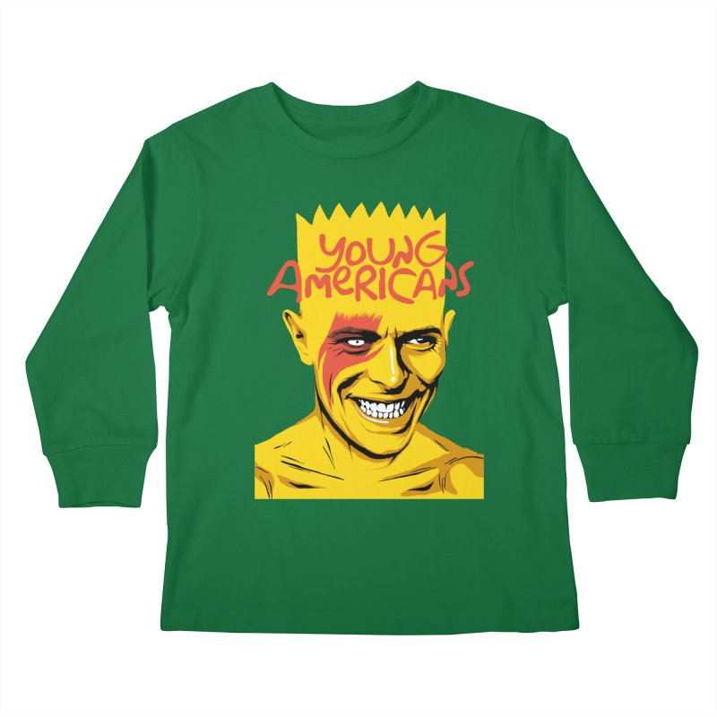 Young Americans  Kids Longsleeve T-Shirt by butcherbilly's Artist Shop