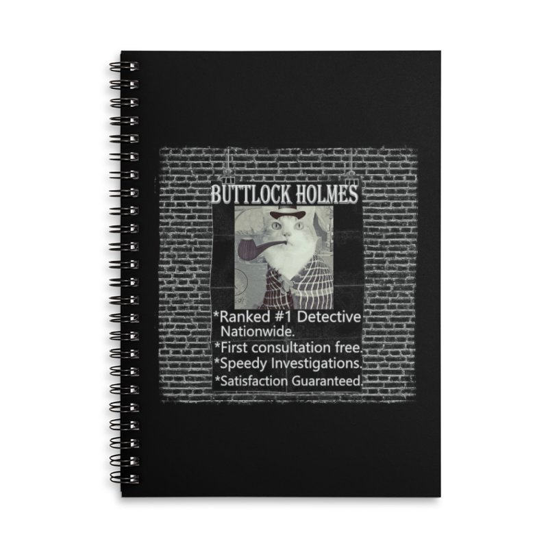 Cat Detective Accessories Notebook by Butters The Bean