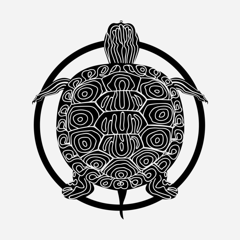 Black Turtle - Circle Collection by buxmontweb's Artist Shop