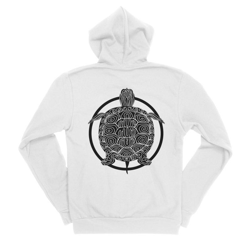 Black Turtle - Circle Collection Men's Sponge Fleece Zip-Up Hoody by buxmontweb's Artist Shop