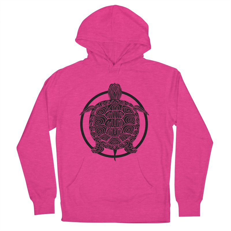 Black Turtle - Circle Collection Men's French Terry Pullover Hoody by buxmontweb's Artist Shop