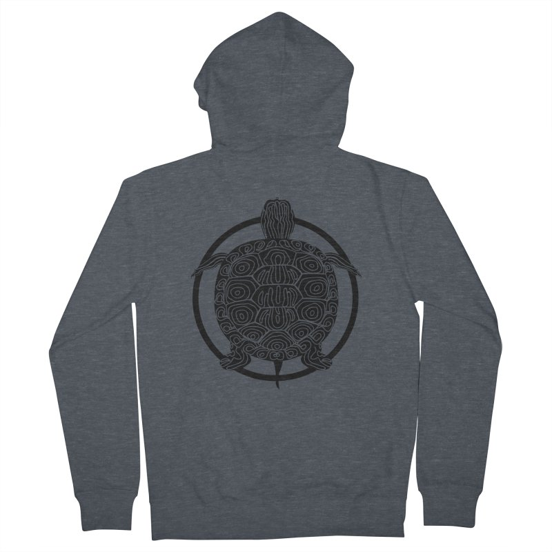 Black Turtle - Circle Collection Men's French Terry Zip-Up Hoody by buxmontweb's Artist Shop