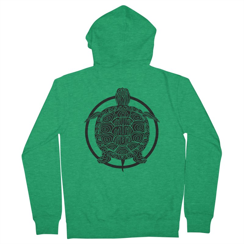 Black Turtle - Circle Collection Men's Zip-Up Hoody by buxmontweb's Artist Shop