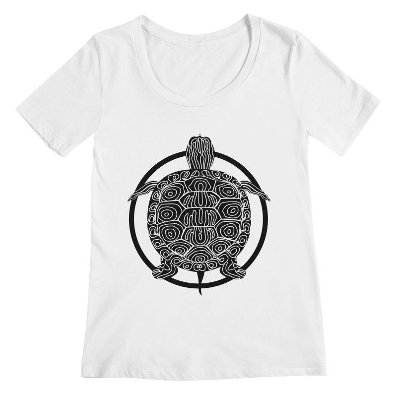 Black Turtle - Circle Collection Women's Regular Scoop Neck by buxmontweb's Artist Shop