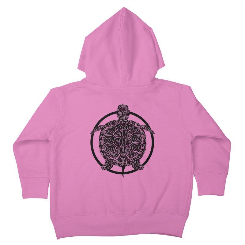 Black Turtle - Circle Collection Kids Toddler Zip-Up Hoody by buxmontweb's Artist Shop