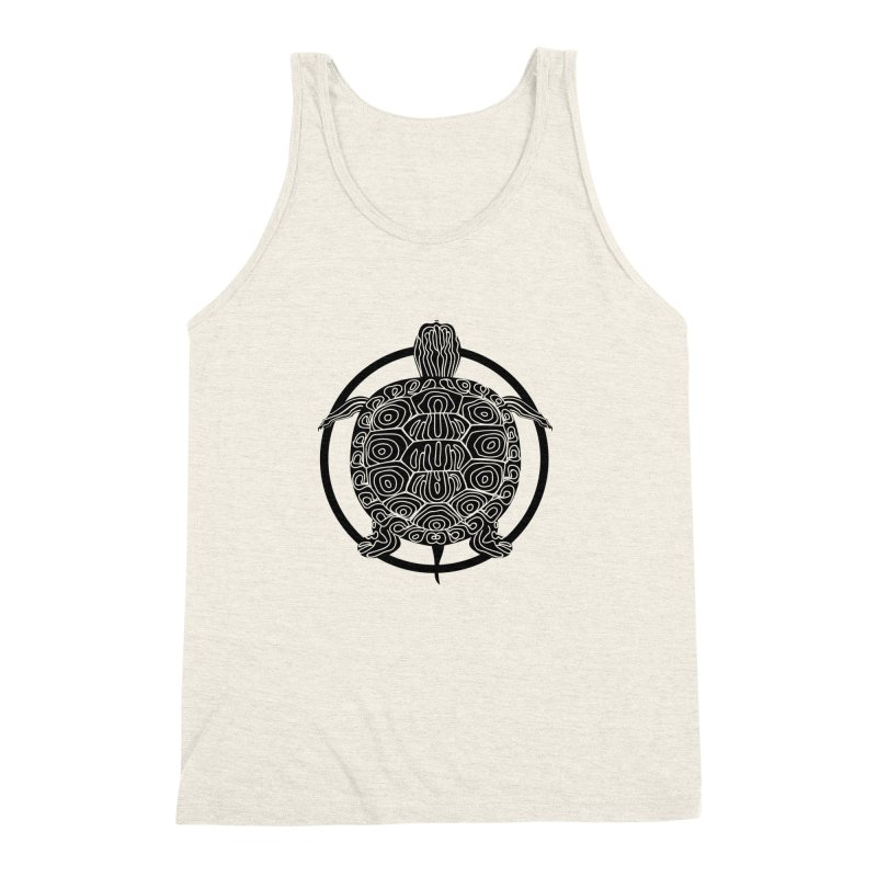 Black Turtle - Circle Collection Men's Triblend Tank by buxmontweb's Artist Shop