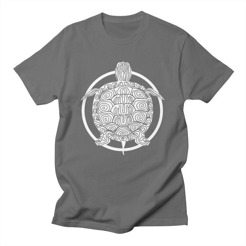 White Turtle - Circle Collection Men's T-Shirt by buxmontweb's Artist Shop
