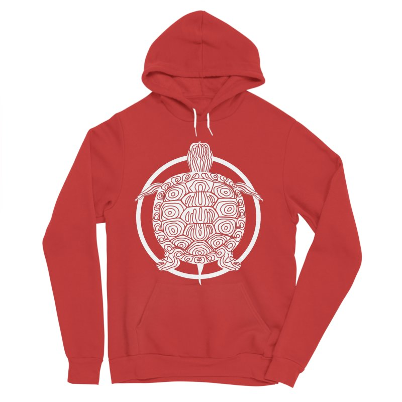 White Turtle - Circle Collection Men's Pullover Hoody by buxmontweb's Artist Shop