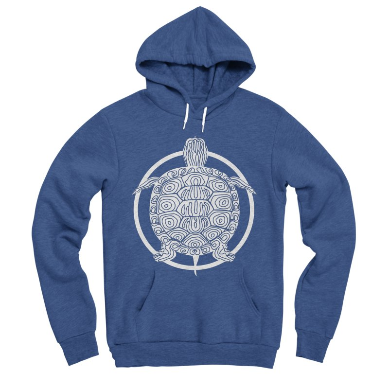 White Turtle - Circle Collection Men's Sponge Fleece Pullover Hoody by buxmontweb's Artist Shop