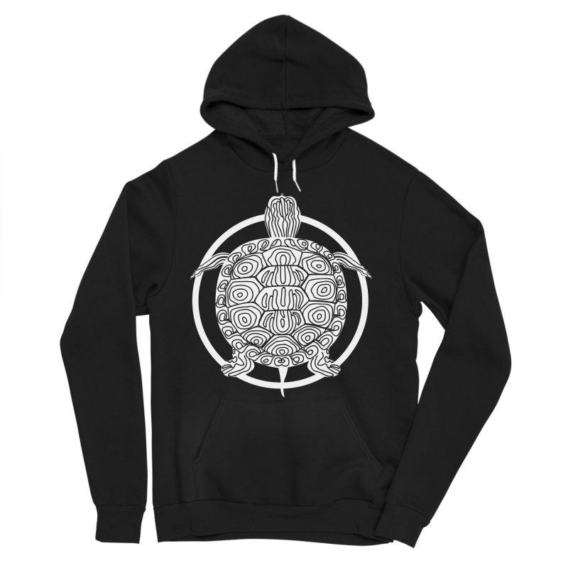 White Turtle - Circle Collection Men's Sponge Fleece Pullover Hoody by buxmontweb's Artist Shop