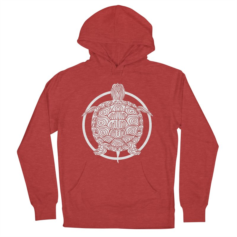 White Turtle - Circle Collection Men's French Terry Pullover Hoody by buxmontweb's Artist Shop