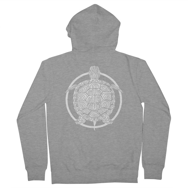 White Turtle - Circle Collection Women's French Terry Zip-Up Hoody by buxmontweb's Artist Shop