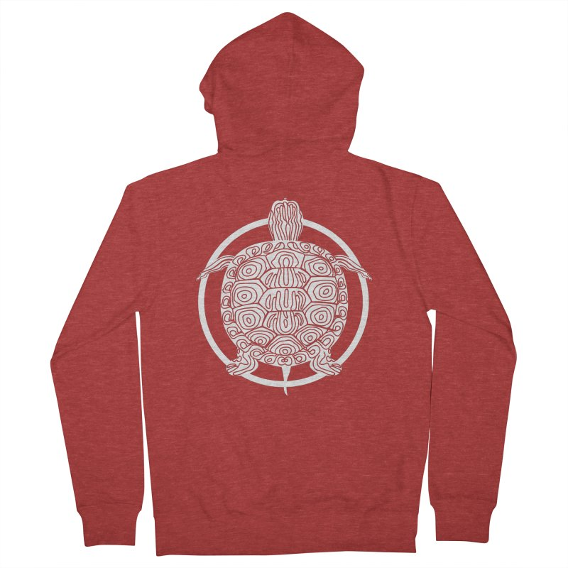 White Turtle - Circle Collection Men's French Terry Zip-Up Hoody by buxmontweb's Artist Shop
