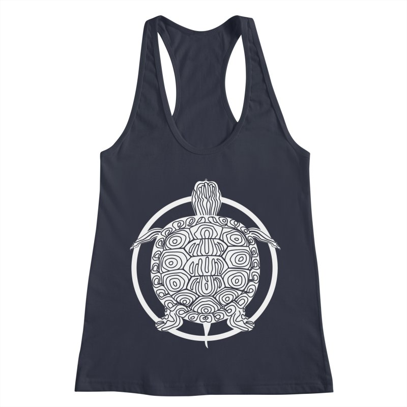 White Turtle - Circle Collection Women's Racerback Tank by buxmontweb's Artist Shop