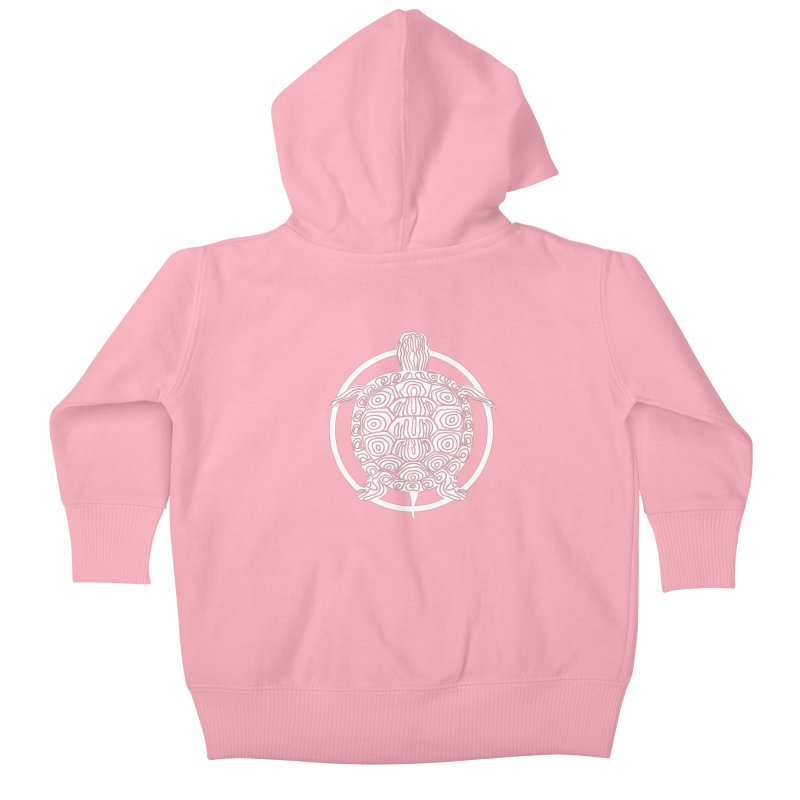 White Turtle - Circle Collection Kids Baby Zip-Up Hoody by buxmontweb's Artist Shop